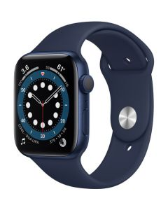Apple Watch Series 6 GPS, 44mm Blue Aluminum Case with Dp Navy Sport Band