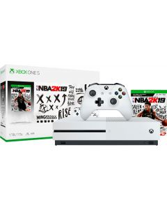 Xbox One S 1TB NBA 2K19 Bundle with 4K Ultra HD Blu-ray - White