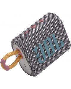 JBL - GO3 Portable Waterproof Wireless Speaker -Gray