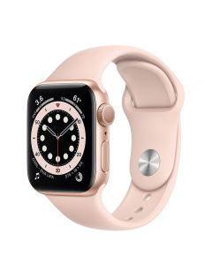 Apple Watch Series 6 GPS , 40mm Gold Aluminum Case with Pink Sport Band