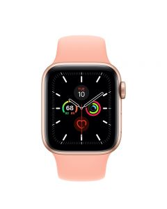 Apple Watch Series 5 GPS, 40mm Gold Aluminum Case with Grapefruit Sport Band