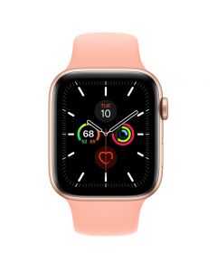 Apple Watch Series 5 GPS, 44mm Gold Aluminum Case with Grapefruit Sport Band