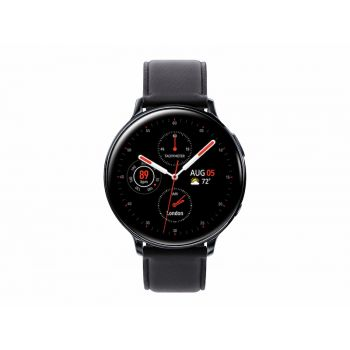 Samsung - Watch Galaxy Active 2, (40mm), Stainless Steel , Leather -Black